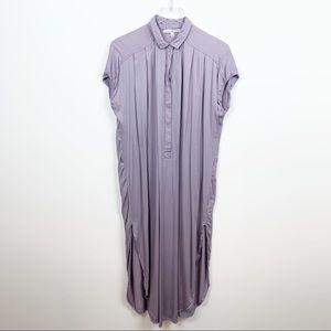 Young Fabulous & Broke | Side Slit Midi Shirtdress